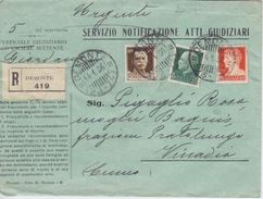 STORIA POSTALE - REGNO - BUSTA SPEDITA DA DAMONTE PER VINADIO - 1900-44 Vittorio Emanuele III