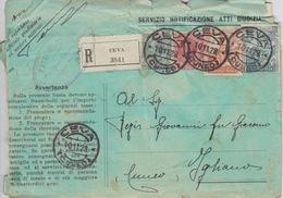 STORIA POSTALE -REGNO - ANNULLI DI CEVA,SAVONA E TORINO - 1900-44 Victor Emmanuel III