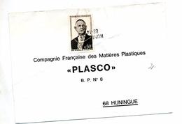 Lettre Cachet Annulation Huningue Sur De Gaulle - Storia Postale