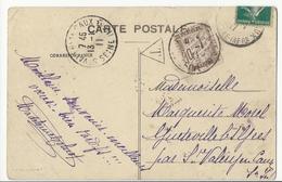 Carte Postale De Forges Les Eaux à St Valéry En Caux - 1911 - Taxée à 10 Cts - 1859-1955 Lettres & Documents
