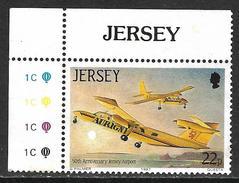Jersey Island (1987) - 50e Anniversaire Aéroport 50th Anniversary Jersey Airport. Britten Norman Trislander Et Islander. - Aerei