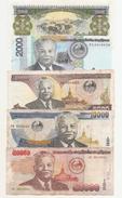 Laos Lote 5 Billetes Usados - Laos