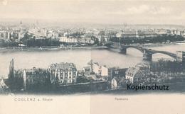 AK Coblenz, Panorama - Koblenz