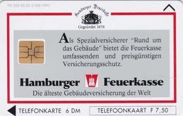 Dutch / German Cooperative Cards, CXD 172, Hamburger Feuerkasse, Only 2000, 2 Scans.