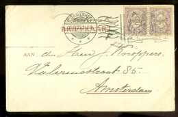 NEDERLAND HANDGESCHREVEN BRIEFKAART Uit 1905 Van DEN HAAG Naar AMSTERDAM  (10.621b) - Period 1891-1948 (Wilhelmina)