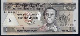 ETHIOPIA P46a 1 BIRR 1989 / 1997   VF+ - Ethiopie