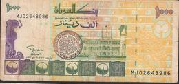 SUDAN P59a  1000 DINARS  1996  Signature 11 , 8 Digit # VF Nice No P.h. ! - Soudan
