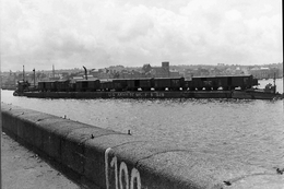 WW2 - Photo-carte - Bataille De Normandie - Un Train Sur L'eau à Cherbourg Le 30 Juillet 1944 - 1939-45