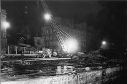 WW2 - Photo-carte - Bataille De Normandie - Déchargement De Nuit Sur Le Port De Cherbourg Le 8 Février 1945 - 1939-45