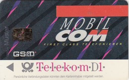Germany, D1M-GSM.01.02.Muster2, Card Number 602, D1 - Mobil Com - First Class Telefonieren (Muster), 2 Scans.