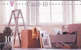 Germany, TCU-01.02.01, Card Number 607,  T-Card-10 - Umzugskarte (Bockleiter), Mint, 2 Scans. 06.2000