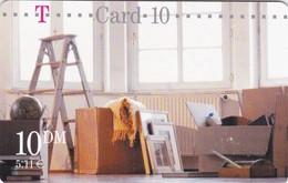 Germany, TCU-01.02.01, Card Number 608,  T-Card-10 - Umzugskarte (Bockleiter), Mint, 2 Scans. 09.2000