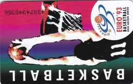 Germany, K 0917-07/93, Card Number 609,  28. Basketball Europameisterschaft Herren 1993, 2 Scans.