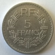 5 Francs LAVRILLIER En Aluminium - 1950 - Superbe - - France