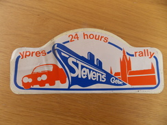 Sticker, Zelfklever, Autocollant  24 Hours Ypres Rally - Stevens Gebroeders - Autocollants