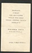 SANTINO PASQUA 1944 FRUGAROLO - ALESSANDRIA - Santini