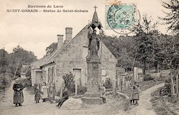 02 Saint Gobain, Statue De Saint Gobain - France