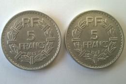 5 Francs LAVRILLIER En Aluminium - 1947 Et 1947 B - - France