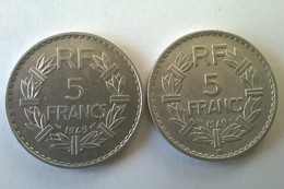 5 Francs LAVRILLIER En Aluminium - 1949 Et 1949 B - - France