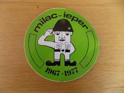 Sticker, Zelfklever, Autocollant  Milac Ieper 1967 - 1977 - Autocollants