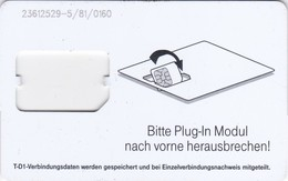 Germany, Card Number 612, GSM Frame Without Chip, 2 Scans.