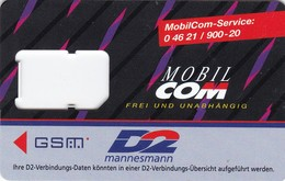 Germany, Card Number 613, GSM Frame Without Chip, 2 Scans.
