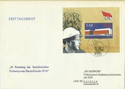 """DDR Bl.45 FDC """"9. Parteitag Der SED 1976"""" Sonderstempel Mi.-Preis 40,00 - [6] République Démocratique"""