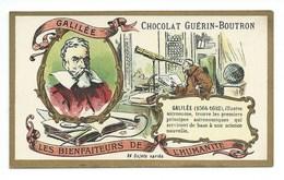 Chromo Galilée Les Bienfaiteurs De L'Humanité Pub: Chocolat Guerin-Boutron 105 X 65 Mm  TB - Guérin-Boutron