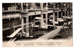 AVION . PARIS GRAND PALAIS 1910 . Souvenir De La Deuxième Exposition De Locomotion Aérienne - Réf. N°1707 - - Avions