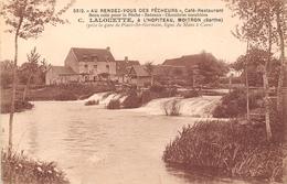 72-HOPITEAU, MOITROU- AU RENDEZ-VOUS DES PÊCHEURS , CAFE RESTAURANT, C. LALOUETTE - France