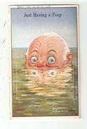 CPA Carte à Système Systhem Card  SOUTHAMPTON Just Having A Peep ( Un Coup D'oeil) Homme Dans La Mer > 10 Vues - Southampton