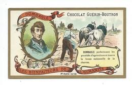 Chromo Dombasle Les Bienfaiteurs De L'Humanité Pub: Chocolat Guerin-Boutron 105 X 65 Mm  TB - Guérin-Boutron