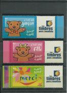 """FRANCE - ANNEE 2001 - Les 3 Timbres Personnalisés """"Les Timbres Personnalisés"""" De L'année. - Personalized Stamps"""