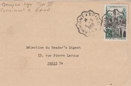 CONVOYEUR LIGNE TYPE III CORNIMONT A EPINAL - Marcophilie (Lettres)