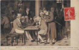 CPA Carte Ancienne 9X14 échecs Chess Jeu De Dames Circulé - Chess