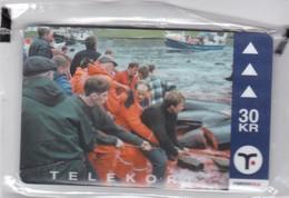Faroe Islands, OD-032, 30 Kr , Pilot Whales 3, Mint In Blister, 2 Scans. - Faroe Islands