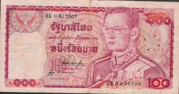 THAILAND  P89f 100 BAHT 1978  #66U   Signature 53 AVF NO P.h. ! - Thailand