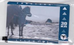 Faroe Islands, OD-024,  30 Kr , Faroese Animals, Horse, Mint In Blister, 2 Scans. - Faroe Islands