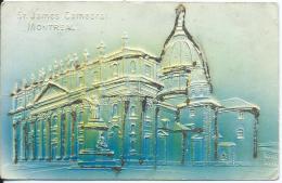AK 0667  St. James Cathedral ( Montreal ) - Glitzer-Präge-Karte Ca. Um 1910 - Churches & Cathedrals