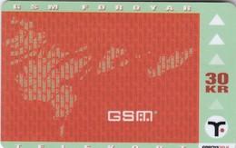 Faroe Islands, OD-022, Gsm Phones, Only 9.850, 2 Scans. - Faroe Islands