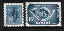 CANADA   Scott # 371-2 VF USED