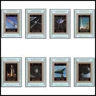 0085/ Ajman Deluxe Blocs ** MNH Michel N° 2781 / 2888 Espace (space Progress)