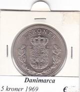 DANIMARCA   5  KRONER  1969 (1)  COME DA FOTO - Danimarca
