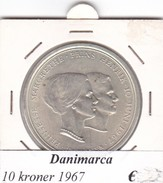 DANIMARCA   10  KRONER  1967  COME DA FOTO - Danimarca