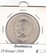 DANIMARCA   10  KRONER  1968  COME DA FOTO - Danimarca