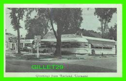 RUTLAND, VT - LINDHOLM'S DINER - ANIMATED OLD CAR - - Rutland