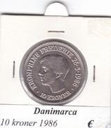DANIMARCA   10  KRONER  1986  COME DA FOTO - Danimarca