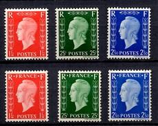 France Les Deux Séries Dulac Non-émises YT N° 701A/701C Et 701D/701F Neufs *. B/TB. A Saisir!