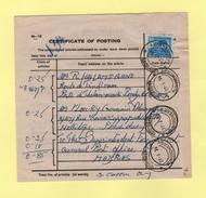 Certificate Of Posting - India - Inde - 1976 - Pondichery - Indien