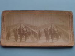 On The Promenade, BROOKLYN BRIDGE New York U.S.A. ( Copyright 1894 Strohmeyer / Underwood - Voir Photo Pour Detail ) ! - Stereoscopic